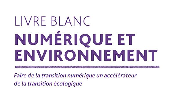 Lecture : Un Livre Blanc pour faire de la transition numérique un accélérateur de la transitionécologique