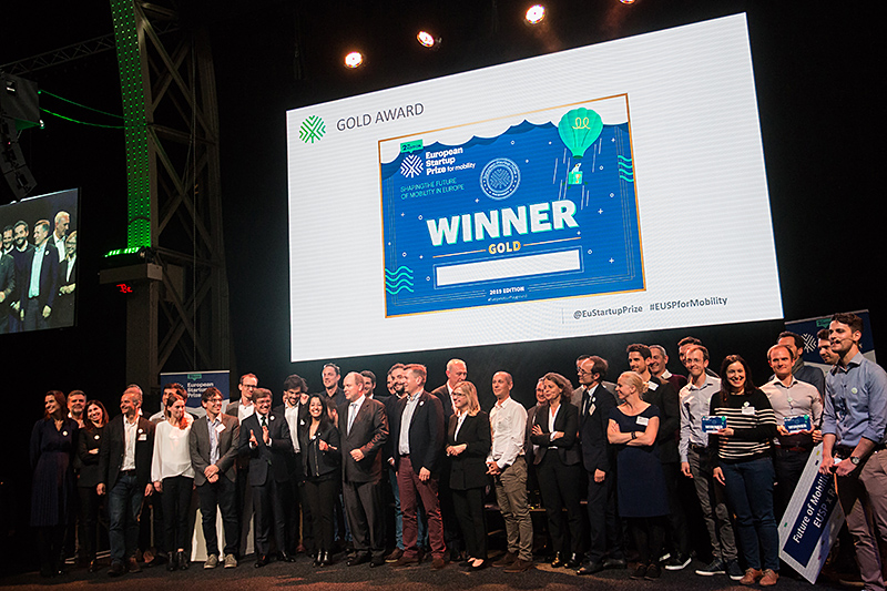 Les 10 gagnants de l'European Startup Prize for mobility 2019 !